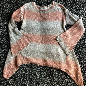 Knox Rose ombré bell sleeve sweater small